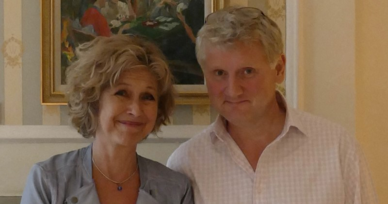 Jenny Quayle with Producer, Richard Edwards