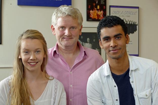 Lauren Lyle, Luke Pierre and Richard Edwards